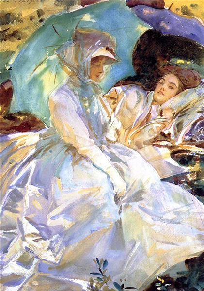 Simplon Pass. Reading, 1911 - John Singer Sargent