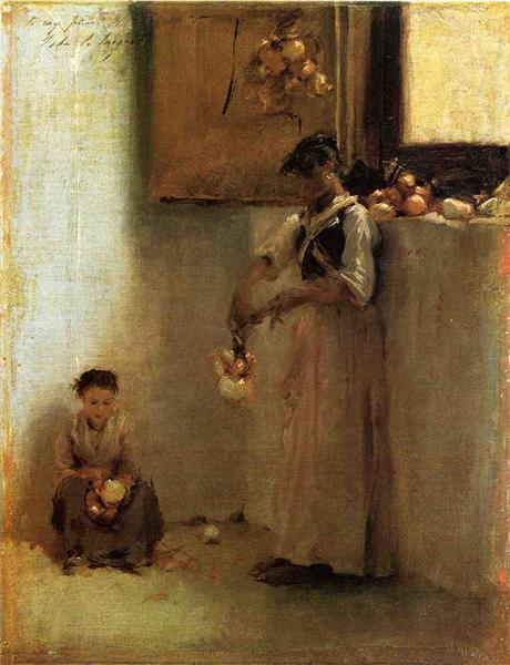Stringing Onions, c.1882 - John Singer Sargent
