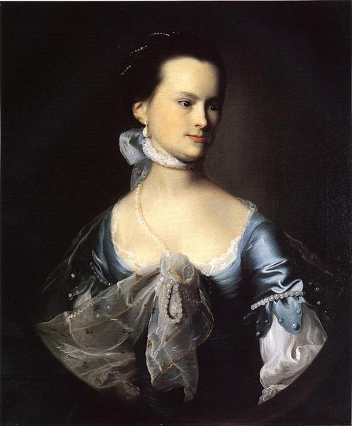 Portrait of Elizabeth Deering Wentworth Gould Rogers (also known as Mr. Nathaniel Rogers), c.1765 - John Singleton Copley