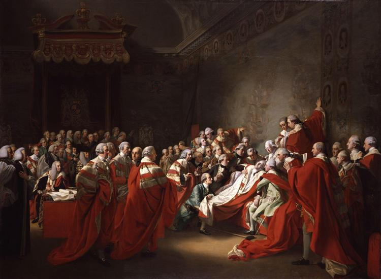The Death of the Earl of Chatham, 1781 - John Singleton Copley