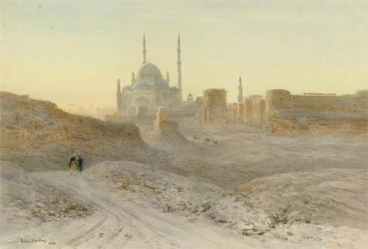 The Citadel and Mosque of Mehemet-Ali, Cairo, 1901 - John Varley II