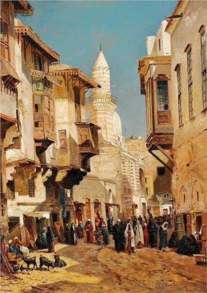 The Mosque of Emir Mindar in Cairo, 1880 - John Varley II