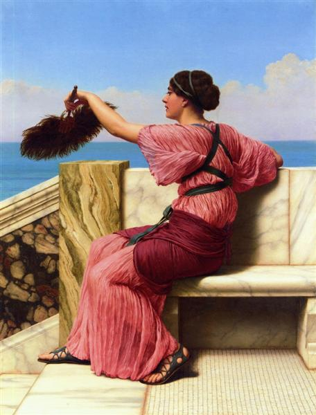The Signal, 1918 - John William Godward