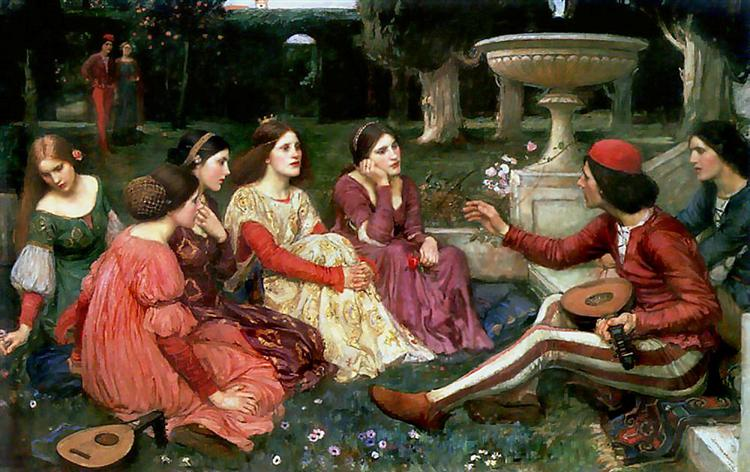 A Tale from the Decameron, 1916 - John William Waterhouse