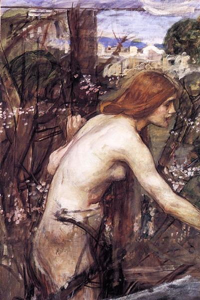 Woman Picking Flowers, 1909 - c.1914 - John William Waterhouse