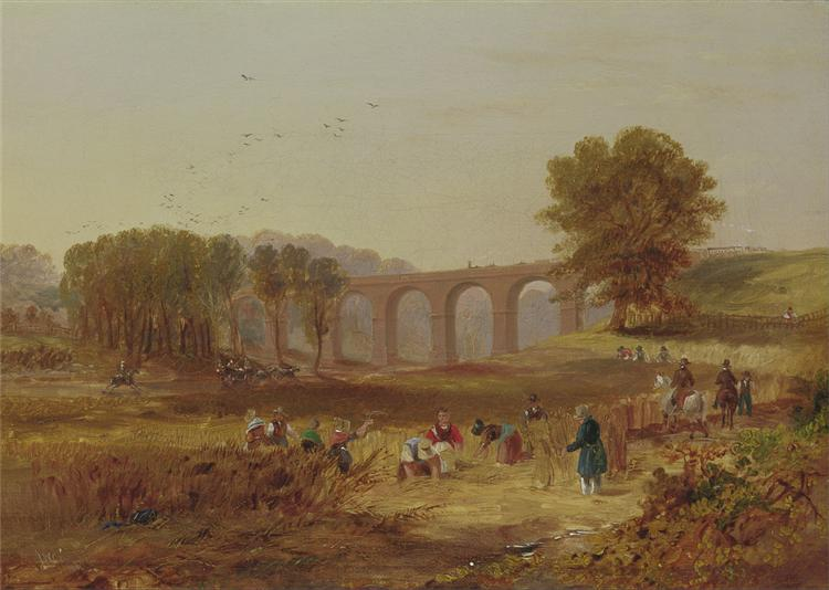John Wilson Carmichael - Corby Viaduct, the Newcastle and Carlisle Railway, 1836 - John Wilson Carmichael