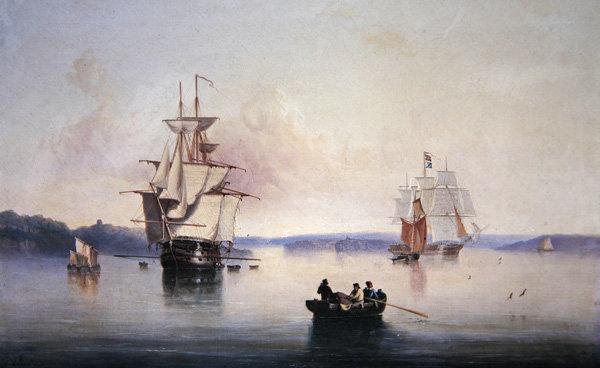 Saltash Creek- Near Plymouth, 1849