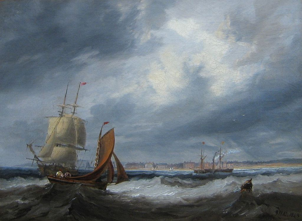 Shipping off Seaham by John Wilson Carmichael, 1843