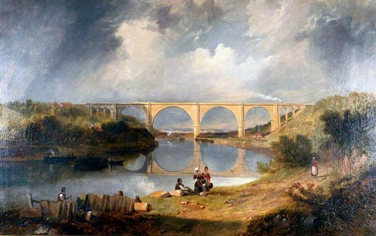 Victoria Bridge over the River Wear, 1838 - John Wilson Carmichael