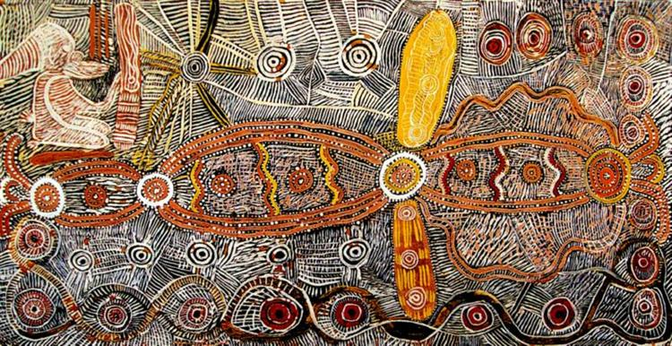 Wild Tomato Dreaming, 1972 - Johnny Warangkula Tjupurrula
