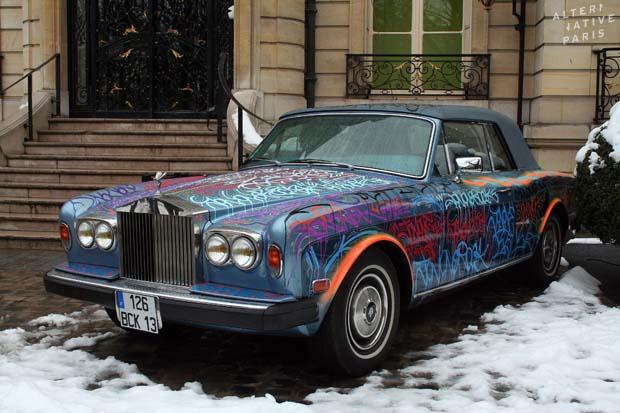 Cantona's Rolls Royce - JonOne