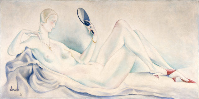 Female nude (for the decoration of Bristol club), 1926 - Jose de Almada-Negreiros