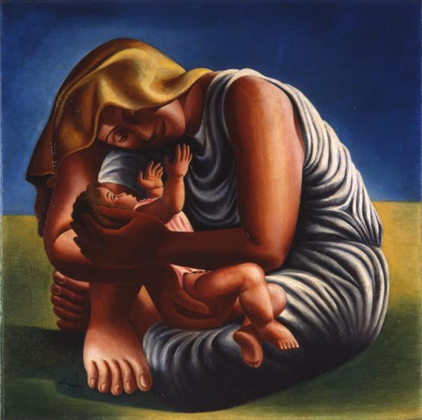 Maternity, 1935 - Jose de Almada-Negreiros