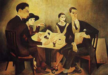 Self-portrait in a group, 1925 - Хосе де Альмада Негрейрос