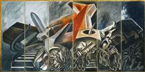 Dive Bomber and Tank - Jose Clemente Orozco