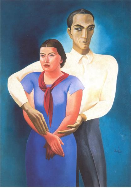Double Portrait, 1936 - Jose de Almada-Negreiros