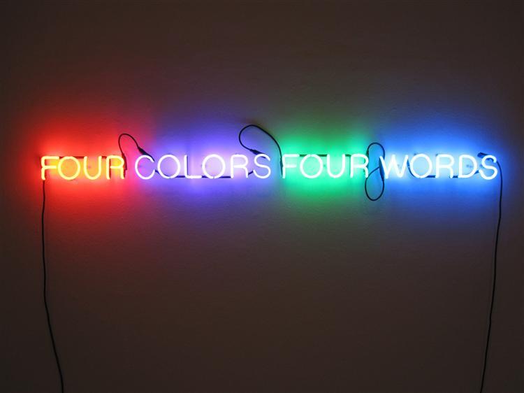 Four Colors Four Words, 1966 - Joseph Kosuth