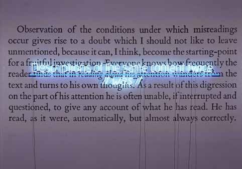 It was it No. 4, 1984 - Joseph Kosuth