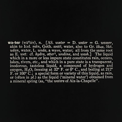 Titled (Art as Idea as Idea) (Water), 1966 - Джозеф Кошут