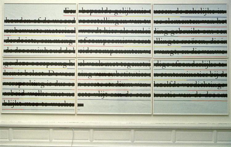 Zero & Not, 1985 - 1986 - Joseph Kosuth