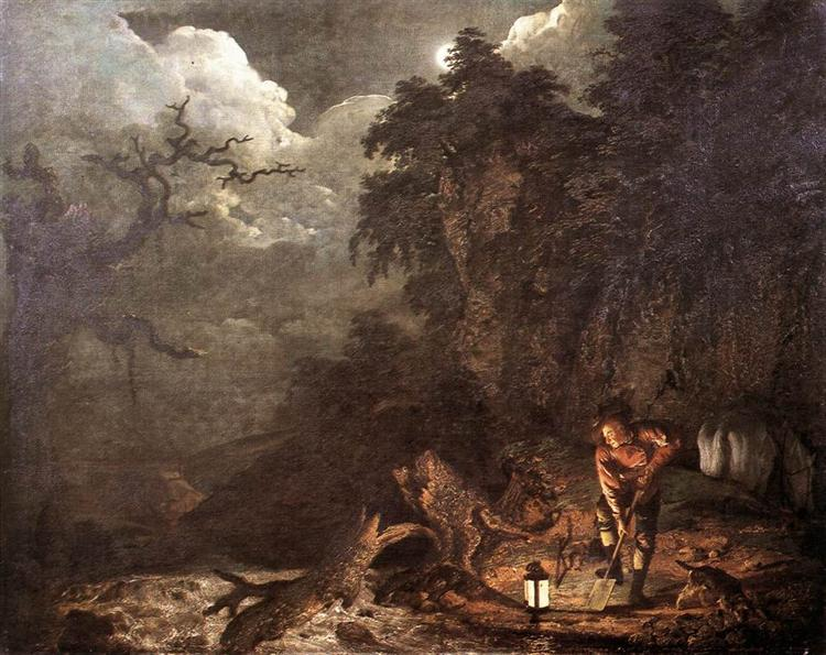 The Earthstopper on the Banks of the Derwent, 1773 - Joseph Wright