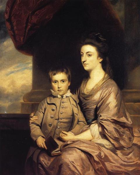 Elizabeth, Countess of Pembroke and Her Son, 1764 - 1767 - Joshua Reynolds