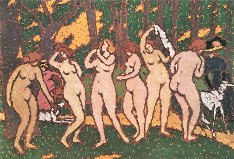 Nudes in the park - Jozsef Rippl-Ronai