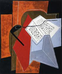Bowl and Book - Juan Gris