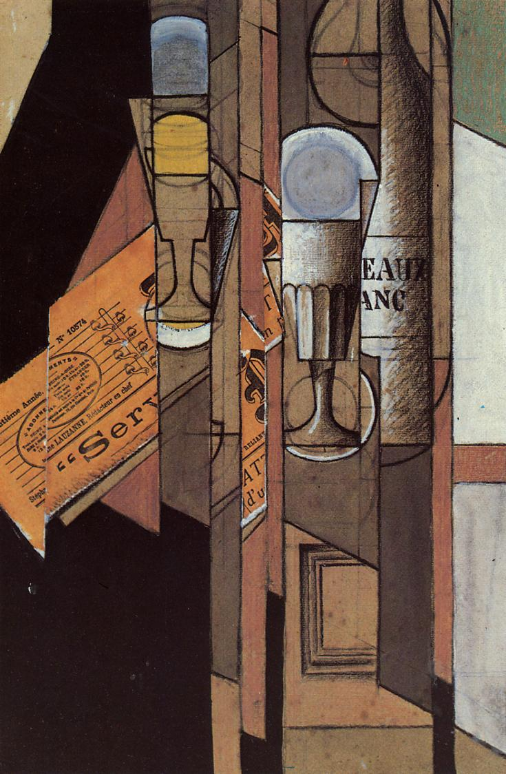 Image result for juan gris glass and newspaper