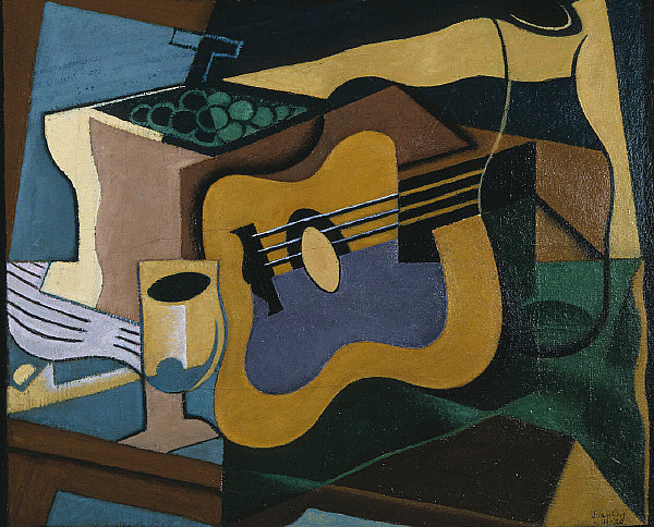 still life with guitar 1920 juan gris. Black Bedroom Furniture Sets. Home Design Ideas