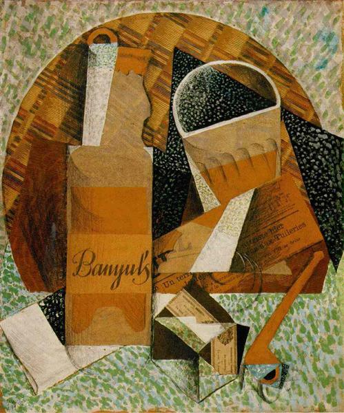 The Bottle of Banyuls, 1914 - Juan Gris
