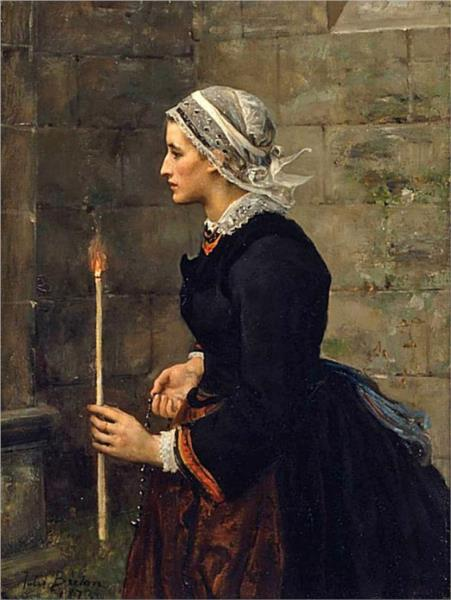 Woman with a Taper, 1873 - Jules Breton