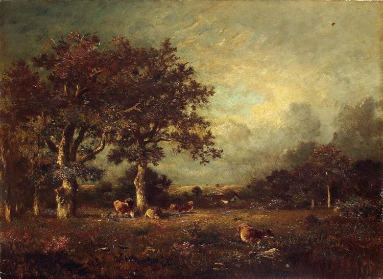 Пейзаж с коровами, 1870 - Жюль Дюпре