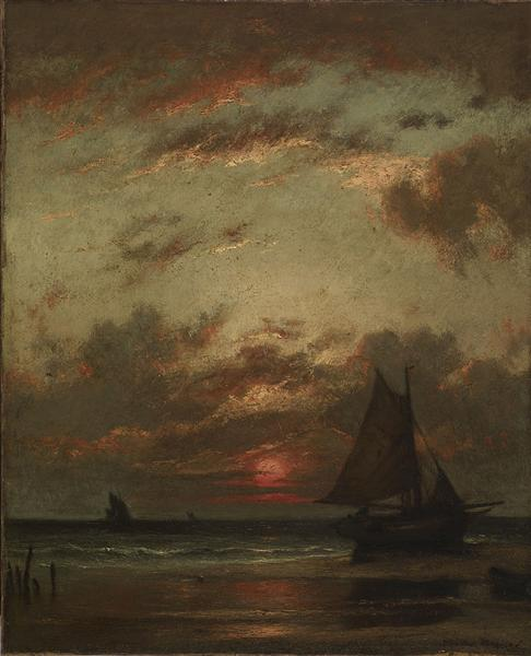 Sunset on the Coast - Jules Dupre