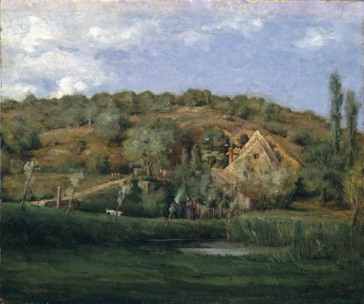 A French Homestead, c.1878 - Julian Alden Weir