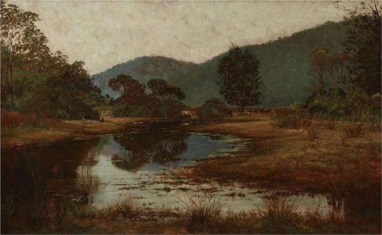 A waterhole on the Hawkesbury River - Julian Ashton