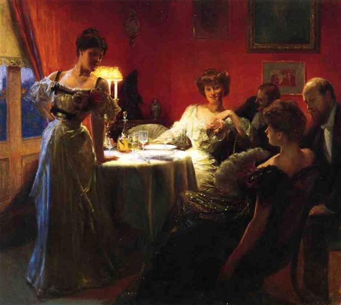 A Supper Party, 1903 - Julius LeBlanc Stewart