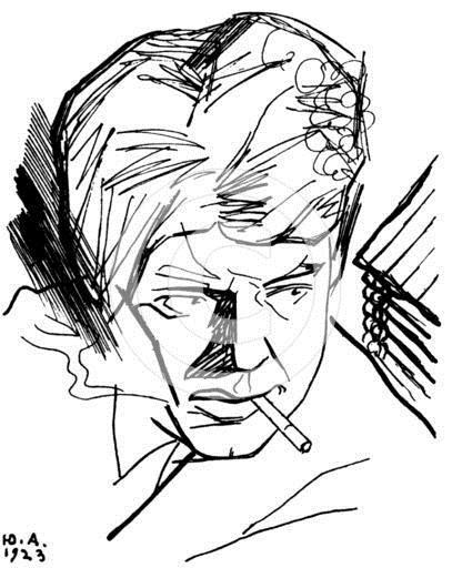 Sergei Yesenin, Russian poet, 1923 - Юрій Аннєнков