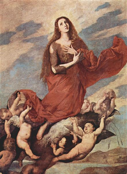 The Assumption of Mary Magdalene, 1636 - Jusepe de Ribera