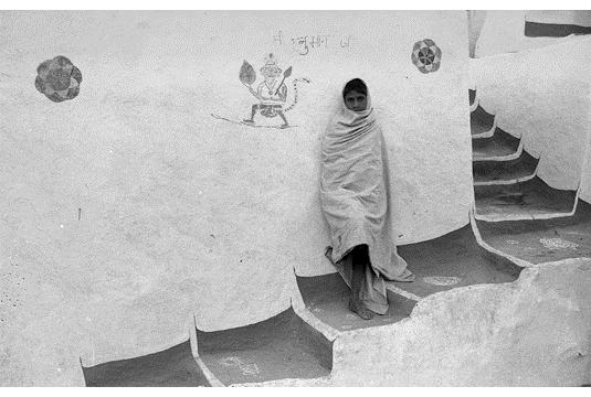 Steps in a rural village, Rajasthan - Jyoti Bhatt