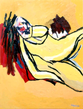 Yellow Nude, 2000 - Karel Appel