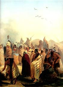 Scalp Dance of the Minatarres - Karl Bodmer