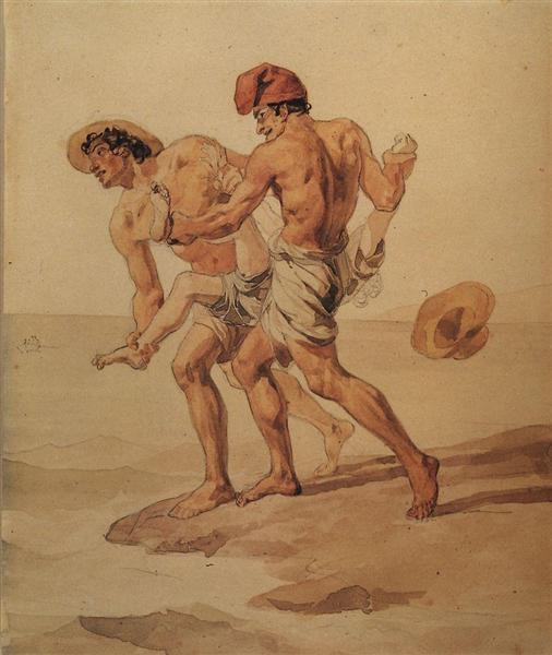 Forced to Swim, 1851 - 1852 - Karl Briulov