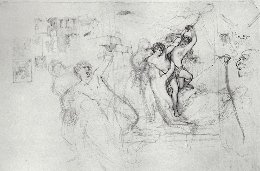 Hylas, Carried Along by the Nymphs in Water, 1823-1827
