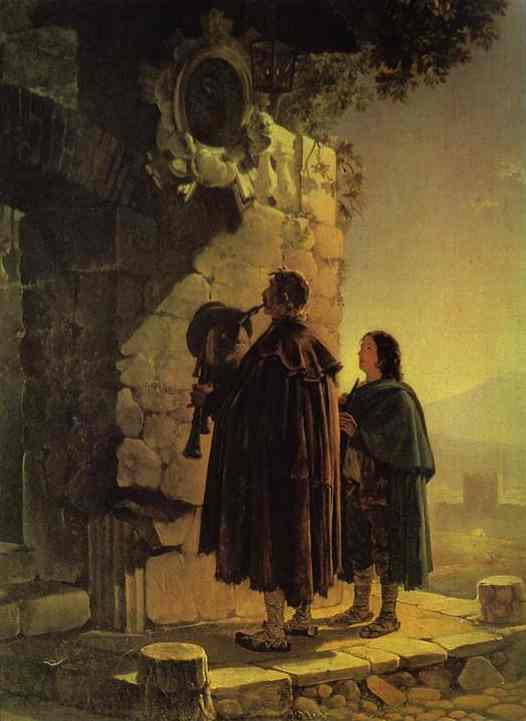 Pifferary in front of Madonna, 1825