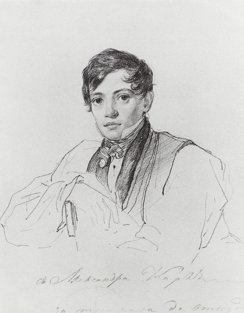 Portrait of Alexander Bruloff, 1826