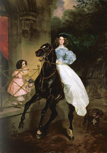Rider. Portrait of Giovanina and Amacilia Pacini, the Foster Children of Countess Yu. P. Samoilova - Карл Брюллов