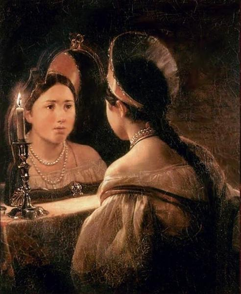 Гадающая Светлана, 1836 - Карл Брюллов