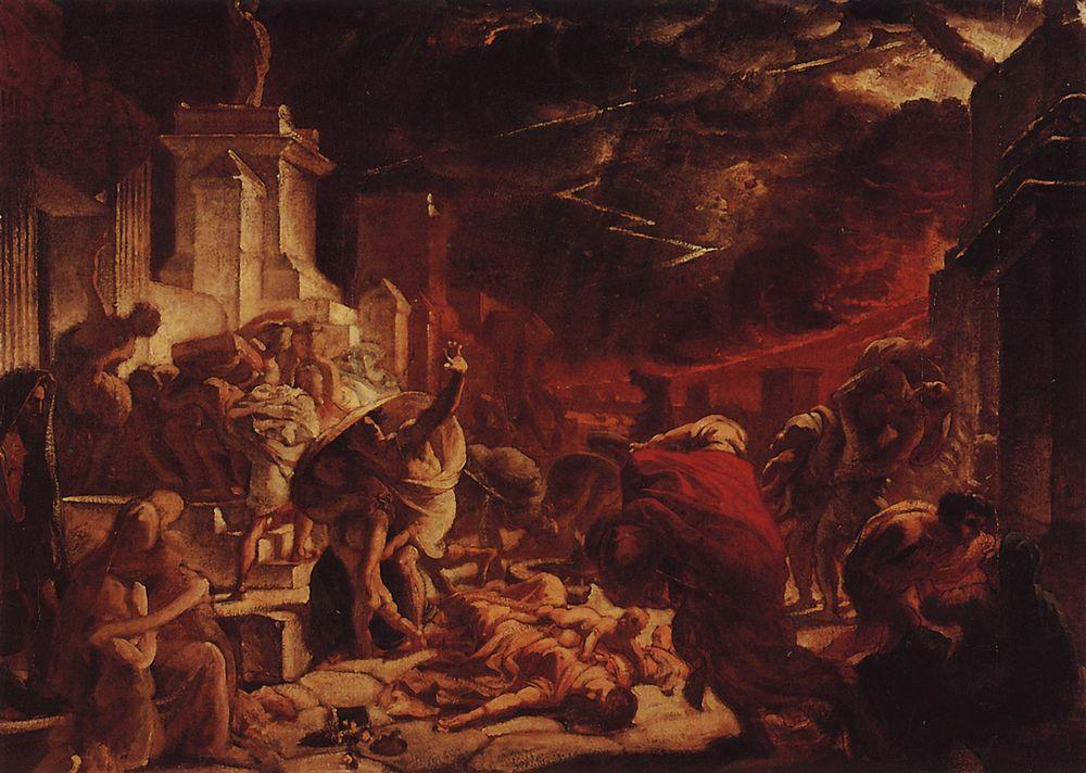 The Last Day of Pompeii, 1828