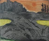 Evening Sun: Low Tide - Karl Schrag
